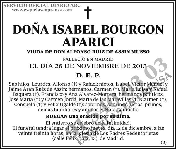 Isabel Bourgon Aparici